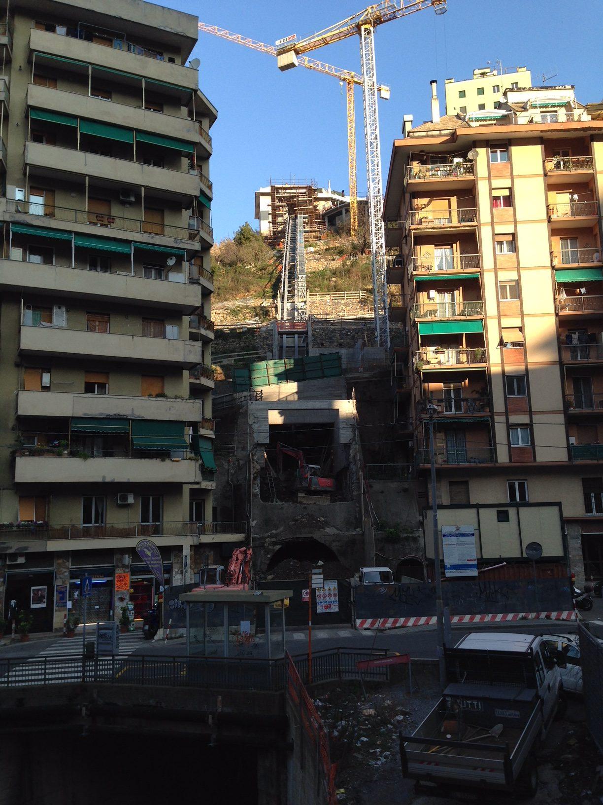 Quezzi ascensore da via Pinetti