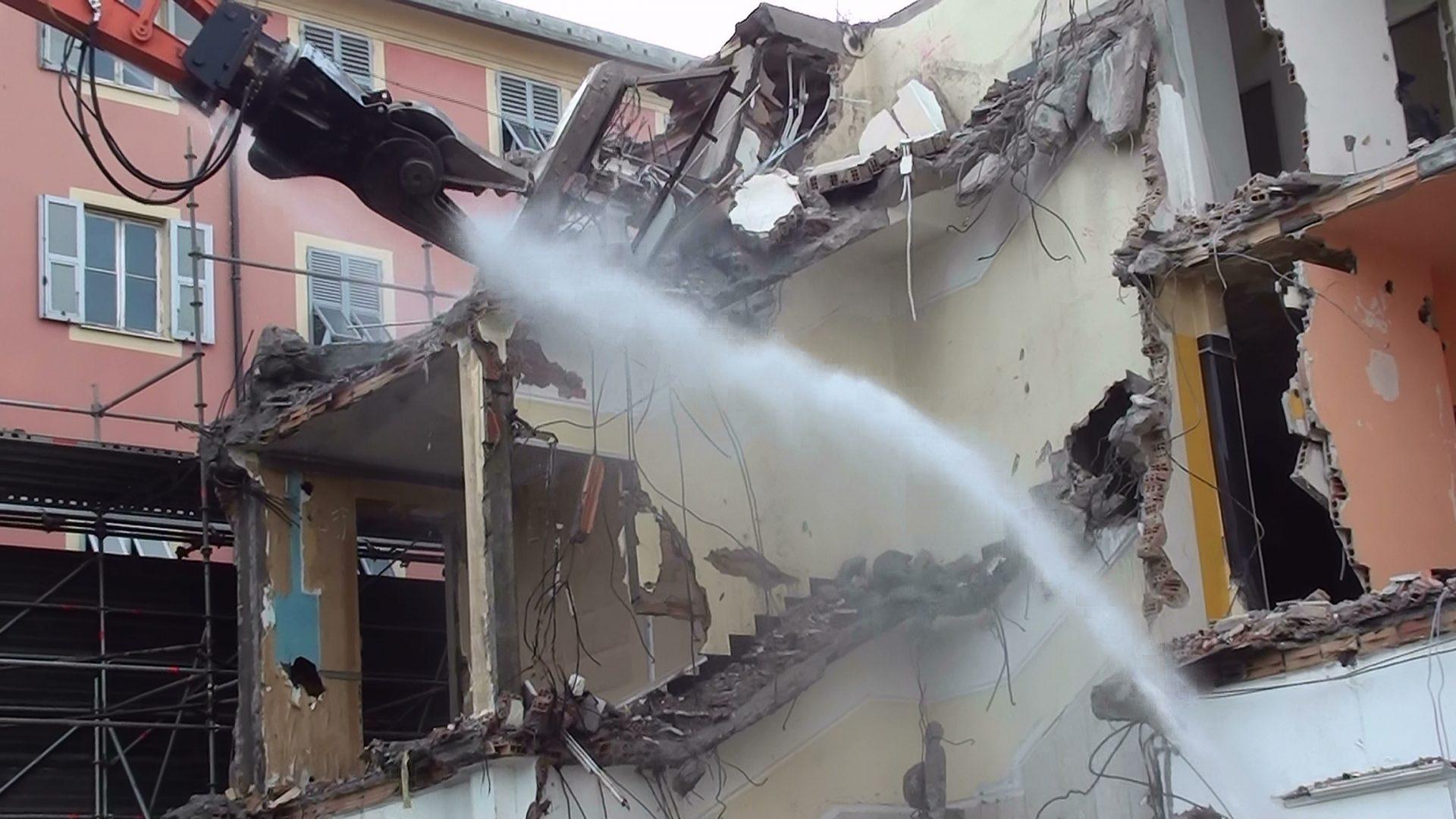 Via Giotto demolizione